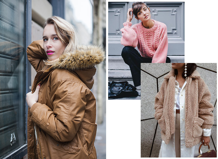 parisian-fashion-blogger-blonde-parka-monki-pink-lipstick